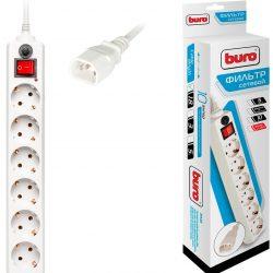 Сетевой фильтр на 6 розеток Buro 600SH-1.8-UPS-W  белый 1.8м