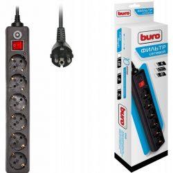Сетевой фильтр Buro 600SH-1.8-B 1.8м 6 розеток черный