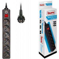 Сетевой фильтр Buro 600SH-3-B 3м (6 розеток) черный