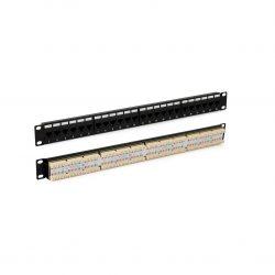 Патч-панель 19″ Hyperline PP3-19-24-8P8C-C5E-110D, 1U, 24 порта RJ-45, категория 5E, Dual IDC, ROHS, цвет черный
