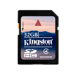 Карта памяти SDHC 32Gb class4 Kingston SD4/32Gb