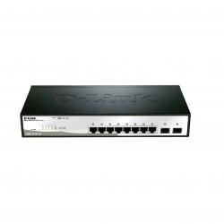 Коммутатор D-Link DGS-1210-10P Ethernet 8x1000Mbps, с PoE