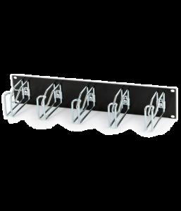 """Кабельный организатор с металлическими кольцами Hyperline CMW-2U-03-BK, 125x65 мм, 19"""", 2U, черный"""