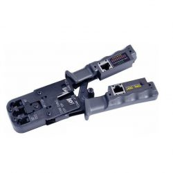 Устройство обжимное (кримпер) + тестер кабеля 8p8c/6P6C/6P4C REXANT 12-3400