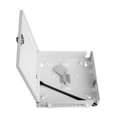 Настенный оптический бокс (шкаф) на 8 SC адаптеров с замком