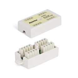 Проходной адаптер Hyperline CA-IDC-C5e-WH (coupler), Dual IDC, категория 5e, 4 пары
