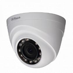 HDCVI Видеокамера купольная DH-HAC-HDW1220RP-0280B, 2Мп, фиксированный объектив 2,8мм, поддержка AHD, CVI, TVI, CVBS