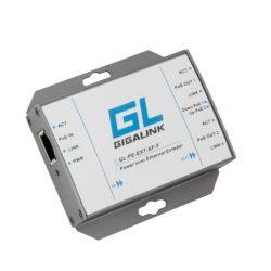 Усилитель Ethernet сигнала GIGALINK GL-PE-EXT-AF-F PoE , 100Мбит/с, 802.3af, подключение до 2 устройств