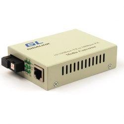 Конвертер GIGALINK UTP, 100Мбит/с, WDM, без LFP, SM, SC, Tx:1550/Rx:1310, 18 дБ (до 20 км) (GL-MC-UTPF-SC1F-18SM-1550-N)