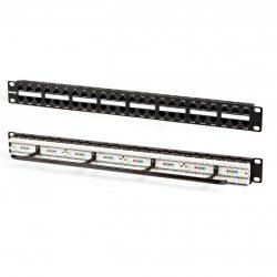 Патч-панель Hyperline PPHD-19-48-8P8C-C5e-110D высокой плотности, 19», 1U,48 портов RJ-45, категория 5e, Dual IDC