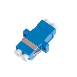 Адаптер NIKOMAX NMF-OA2SM-LCU-LCU-2 волоконно-оптический соединительный одномодовый LC/UPC-LC/UPC двойной пластиковый синий