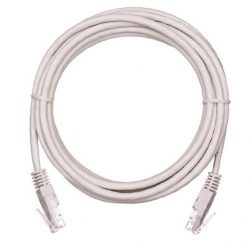 Патч-корд EC-PC4UD55B-015-GY-10 NETLAN U/UTP 4 пары, Кат.5е, 2хRJ45/8P8C, T568B, Molded, PVC, серый, 1,5м