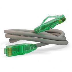 Патч-корд Hyperline PC-LPM-UTP-RJ45-RJ45-C6-1M-LSZH-GY U/UTP, Cat.6, LSZH, 1 м, серый