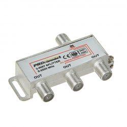 Делитель сигнала ТВ+Спутник на 3 подключения под F разъем 5-2500 МГц «СПУТНИК» PROCONNECT 05-6202-4