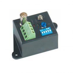 Приемник TTA111VR без БП видео сигнала, по витой паре на 2400 м.(в паре с TTA111VT), 1 видео выход BNC, 1 вход с витой пары под клеммы, 5 диапазонов расстояния, регулировка яркости, защита от скачков напряжения, заземление, Пит: 12В, 0,05А, без блока питания