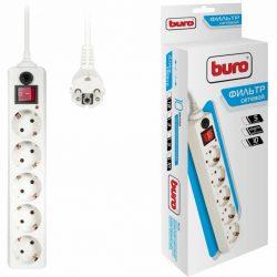 Сетевой фильтр Buro 500SH-10-W 10м 5 розеток белый