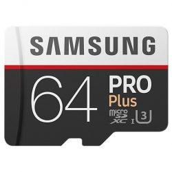 Флеш карта microSDXC 64Gb Class10 Samsung MB-MD64GA/RU Pro PLUS 2   adapter