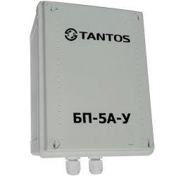 Блок питания импульсивный Tantos БП-5А-У 12В стаб., 5А, защита от КЗ на выходе, герметичный (уличный) IP56, -35+35 С