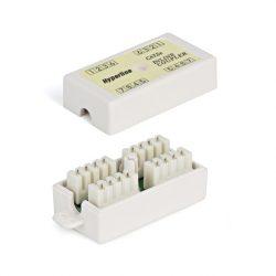 Проходной адаптер Hyperline CA-IDC-C5e-WH (coupler), Dual IDC, категория 5e, 4 пары