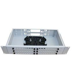 ШКОС-С-2U/4-48-SC Бокс оптический 19 на 48 SC со сплайс пластиной (без пигтейлов и проходных адаптеров)