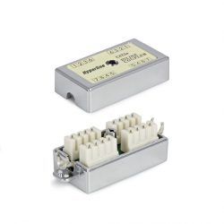 Проходной адаптер Hyperline CA-IDC-C5e-SH-F-WH IDC, категория 5e, экран