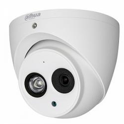 HDCVI Видеокамера купольная DH-HAC-HDW1400EMP-A-0360B, 4Мп, фиксированный объектив 3,6мм, поддержка CVBS