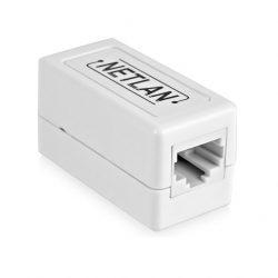 Кабельный соединитель Netlan EC-UCB-55UD2-WT-10 RJ45-RJ45 (8P8C) кат.5е (Класс D), 1000МГц, белый