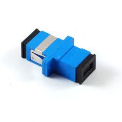 Проходной адаптер Hyperline FA-P11Z-SC/SC-N/BK-BL SC/UPC-SC/UPC SM simplex корпус пластиковый синий черные колпачки