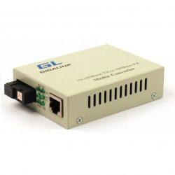 Конвертер GIGALINK UTP, 100Мбит/с, WDM, без LFP, SM, SC, Tx:1310/Rx:1550, 18 дБ (до 20 км) (GL-MC-UTPF-SC1F-18SM-1310-N)
