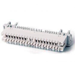 Плинт Hyperline KR-PLP-10-BRK-0 на 10 пар (аналог Krone),размыкаемый, для крепления на штанге, маркировка 0-9