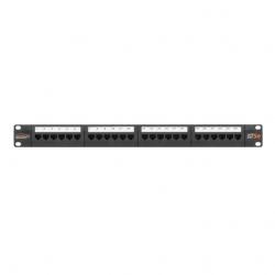Патч-панель NIKOMAX NM-EAP-24С 19″, 1U, 24 порта, Кат.5e, RJ45/8P8C, 110, T568A/B