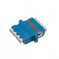 Проходной адаптер Hyperline QLC-QLC-SM LC-LC quadro 4 волокна SM (для одномодового кабеля) корпус пластмассовый (SC Adapter Duplex dimension)