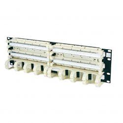 Кроссовая панель EuroLAN типа 110, 19″ категории 5е, 200-парная с организатором