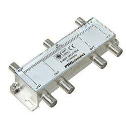 Делитель ТВ-сигнала на 6 подключений под F разъём 5-1000 МГц PROCONNECT 05-6024