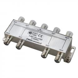 Делитель ТВ-сигнала на 8 подключений под F разъём 5-1000 МГц PROCONNECT 05-6025